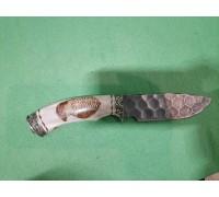 Нож Скиннер из Дамаска под камень