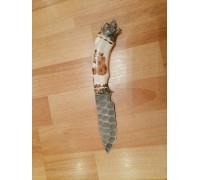 Нож Морж из Дамаска под камень
