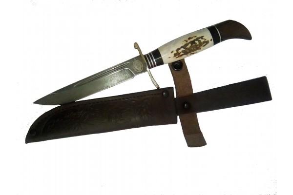 Нож НКВД из ХВ5  и рога лося