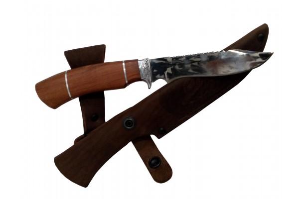 Купить нож Куница 2 из кованой стали Х12МФ с художественным травлением.