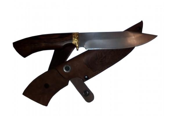 Купить нож Окунь 3 из стали Х12МФ с художественным травлением