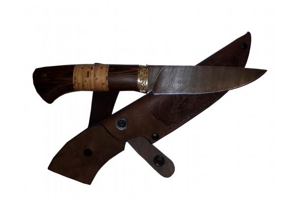 Нож Скиннер из Дамаска