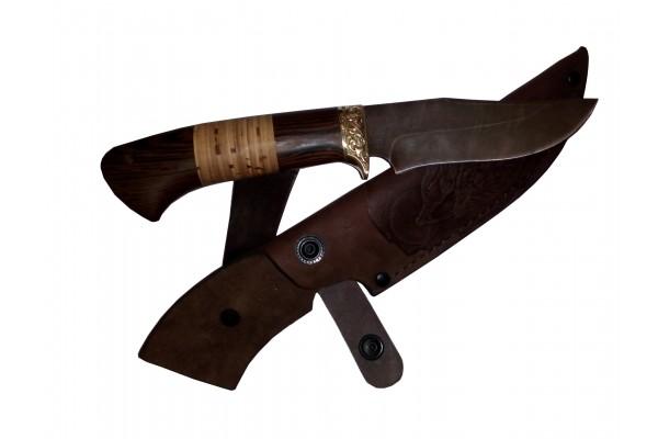 Купить нож Грибник  из дамасской стали. Ворсма.