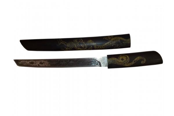 Купить нож танто  Дамасская сталь