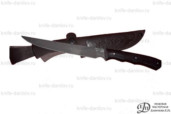 Кухонный нож ручной работы Филейный D2