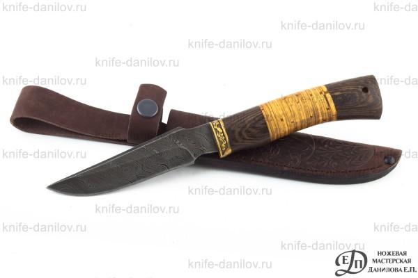 Нож Волк Малый Дамаск